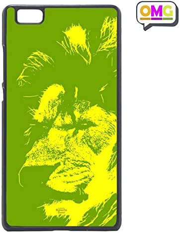 Cover per Huawei P8 Lite Gomma Leone Animali Giallo Verde Fluo ...
