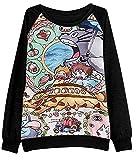 Uget Women's Long Sleeve My Neighbor Totoro Sweatshirt Pullover Shirt Tops