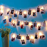 PinnacleT1 LED Photo Clip String Lights,20 Battery Powered LED Picture Frames Lights for Decoration Hanging Photo,Notes,Artwork Christmas Day Decoration for Home, Wall,Party,Bedroom