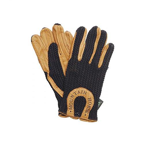 Gloves Horse Mountain Crochet Black Adult SUwTUgPB