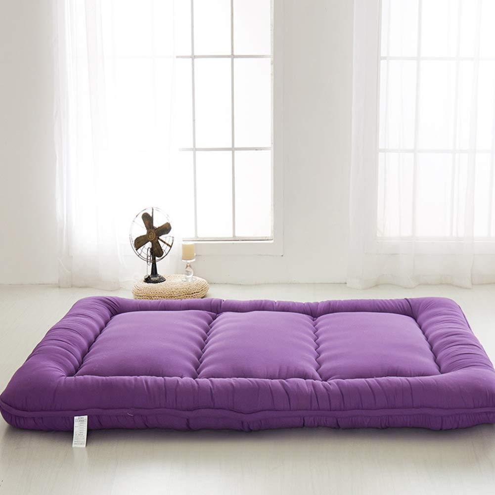 Love Home Tatami-Bodenmatratze, japanische einfarbige Farbe, Vierjahreszeiten, atmungsaktiv, Studenten-Schlafmatratze, Bodenmatte, Schlafmatte, Schaumstoff, violett, 180x200cm(71x79inch)