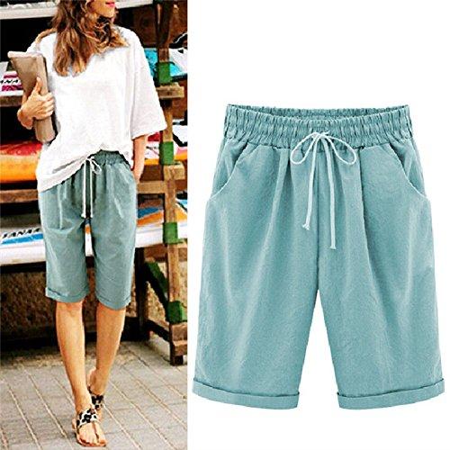 Été Cinq Mince Pantalon Porter Jeu Robe De Taille De Pantalon Grande Taille Pour Femmes J & Taille 200 Kg Étiquette Noir Xl (us10 Eu42 Uk14) Taille Xxxl Étiquette Bleue (us14 Eu46 Uk18)