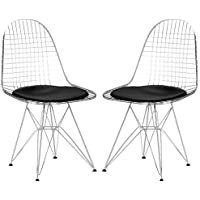 Poly and Bark Hamlet Side Chair in Black (Set of 2)