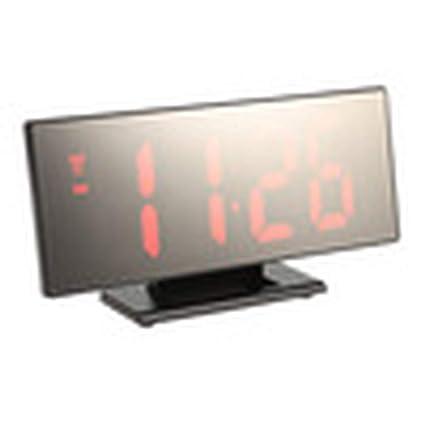 Amazon.com: New Upgrate Digital Alarm Clock Mirror Clock Multifunction Snooze Display Time Night Table Desktop reloj despertador,Red: Home Audio & Theater