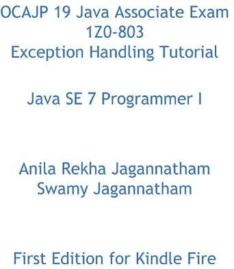 Amazon.com: OCAJP 19 Java Associate Exam 1Z0-803 Exception