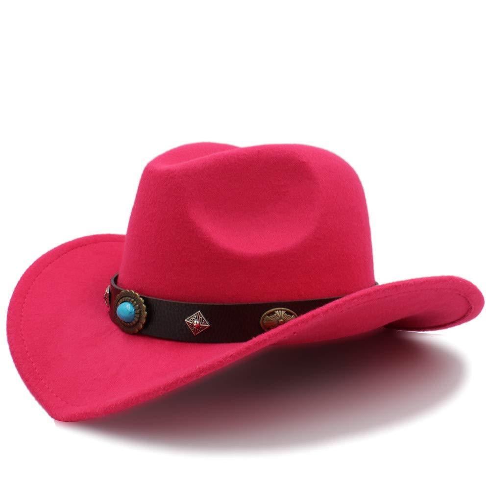 Yuying Cappello da Cowboy per Uomo e Donna 2018 New Western Outdoor  Cappuccio Tesa Larga Cappellino Jazz (Colore   Rosa Rossa 04981a074e8d