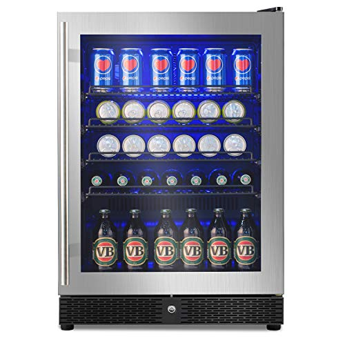 - Advanics 5.8 Cu.Ft 149 Can Frost Free Built-In Beverage Refrigerator and Fridge, 24