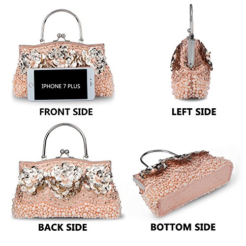nbsp;Bags nbsp;Beaded nbsp;Handbag nbsp;Clutches nbsp;Evening nbsp;Women's nbsp;Flower Bagood nbsp;Bridal nbsp;Purses nbsp;Wedding nbsp;Prom nbsp;Shoulder nbsp;for nbsp;Pearl nbsp;Bag Champagne q0naEgxnW