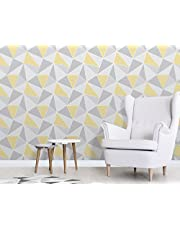 Fine Decor fd41991 wandbehang met geometrisch patroon in geel-grijs