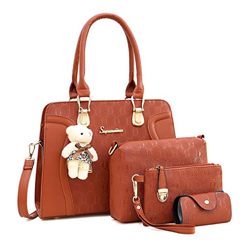 Soperwillton-Handbag-for-Women-Tote-Bag-Shoulder-Bags-Satchel-4pcs-Purse-Set