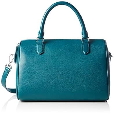 Ecco Iola Bowling, Bolso Bolera para Mujer, Azul (Blau (90557), 25x20x16 cm (B x H x T)