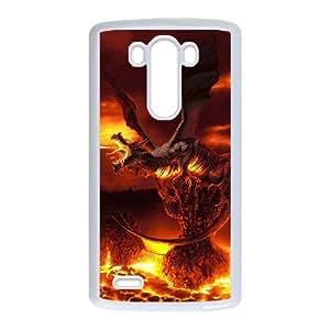 Diy Cool Dragon Phone Case for LG G3 White Shell Phone JFLIFE(TM) [Pattern-1]