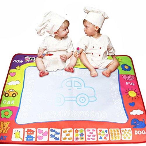 80X60cm Baby Drawing Writing Board Water Painting Doodle Canvas - 7