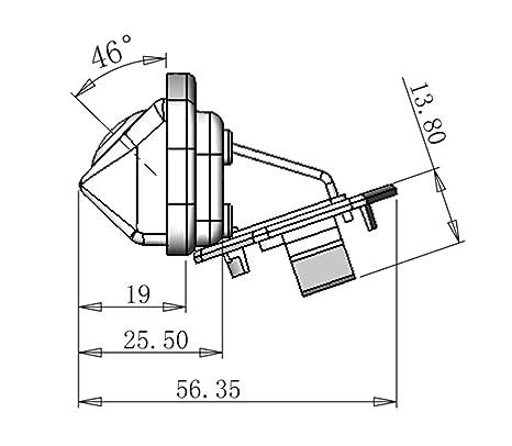 Amazon Com Generic 100 Glass Lens 170 Degree Angle Car Rear View
