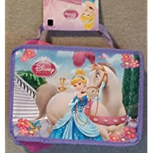 """Disney Princess Insulated Lunch Bag. All Little Princess will Adore Having Lunch with a Princess. Princesses Favorite Healthy Fruits, Vegetables Foods and Treats Dimensions 7.5"""" H x 9.25"""" W x 3.5"""" D Easy to Open Zipper Holiday Gifts Girls Pink NEW"""