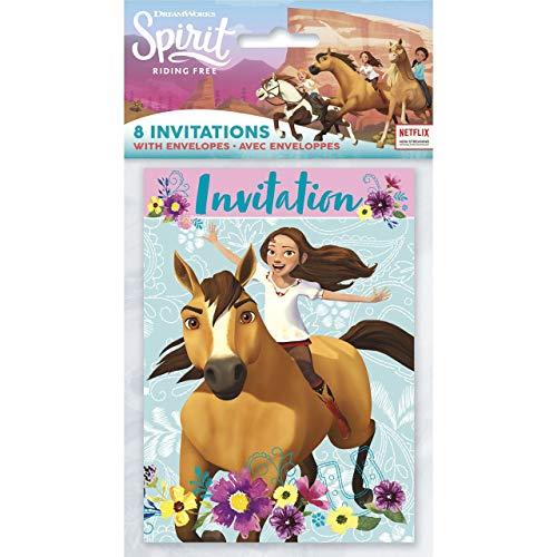Unique Spirit Riding Free Party Invitations, 8 Ct.