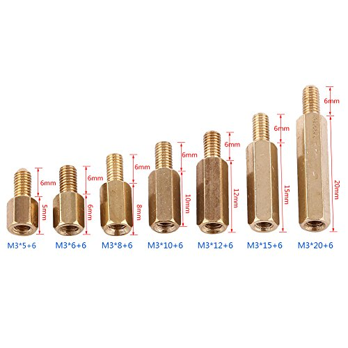 Brass 8 Length, Zinc Plated Lyn-Tron Pack of 1 Female 0.375 OD 10-32 Screw Size