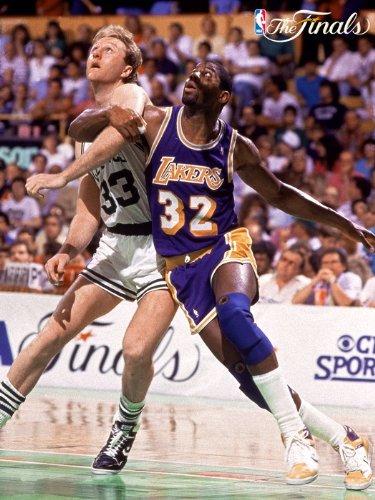 SD9283 Larry Bird vs Magic Johnson NBA Finals 24x18 Print - Johnson Nba Magic