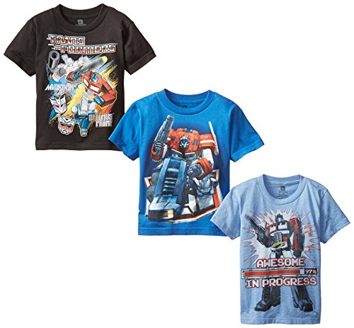 Transformers Little Boys' Boys T-Shirt 3-Pack, Assorted, 7 (Toys Boys Transformers)