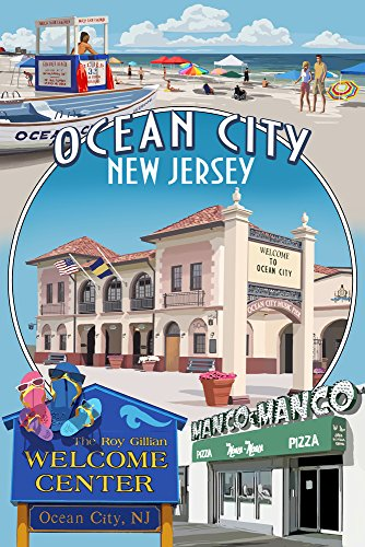 Ocean City, New Jersey - Montage (9x12 Art Print, Wall Decor Travel Poster) ()