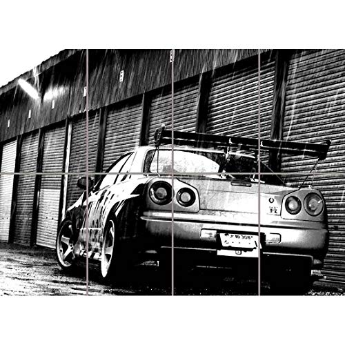 Doppelganger33LTD NISSAN GT R SKYLINE CAR GIANT PANEL POSTER ART PRINT PICTURE PR163 ()