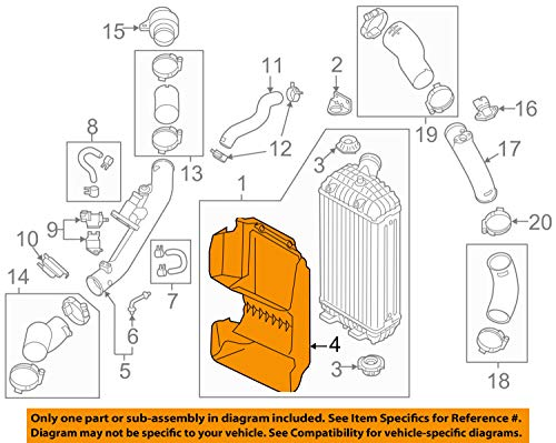HYUNDAI OEM 17-18 Santa Fe 2.0L-L4 Intercooler-Air Guide 282742G350 by HYUNDAI (Image #5)