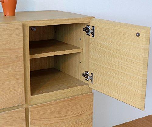 ISSEIKIキャビネットチェストナチュラル幅110cm大容量木製家具【CM-68-1】