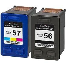 Valuetoner Remanufactured Ink Cartridges for HP 56 & HP 57 C9321BN C6656AN C6657AN (1 Black, 1 Tri-Color) 2 Pack for HP Deskjet 5550 5650 5150, Photosmart 7350 7260 7450 7550 7760, PSC 2210 Printer