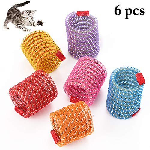 Legendog 6PCS Cat Spring Toy Creative Colorful Spiral Cat Toy Pet Play Toy for Cat Kitten