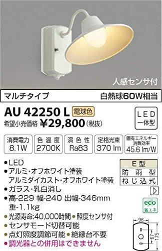 いいスタイル AU42250L B01GCAY8SG AU42250L 電球色LED人感センサ付アウトドアポーチ灯 B01GCAY8SG, 威風堂:36dfc844 --- a0267596.xsph.ru