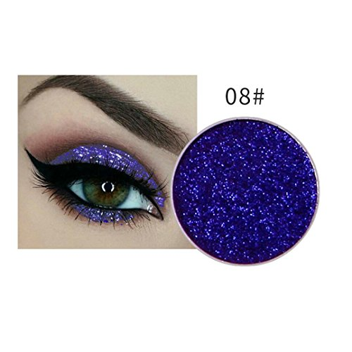 Fheaven (TM) 15 Colors Eyeshadow Glow Waterproof Make Up Eye shadow Glitter Brighten Shimmer Highlighters Makeup for Salon or Halloween Party Makeup (H) -