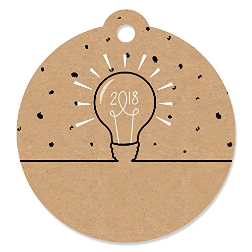 Bright Future - 2018 Graduation Party Favor Gift Tags (Set of 20) (Graduation Gift Tags)