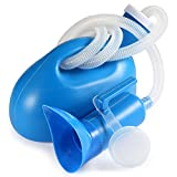 ONEDONE Urinal Pee Bottle Universal Portable 2000 ML with Female Adapter for Hospital Camping Car Travel (blue)