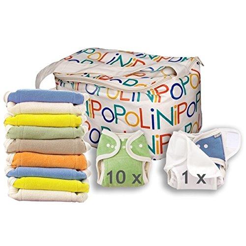 Popolini One Size Rainbow Kit /à langer avec10couches 10linges interm/édiaires et 1culotte