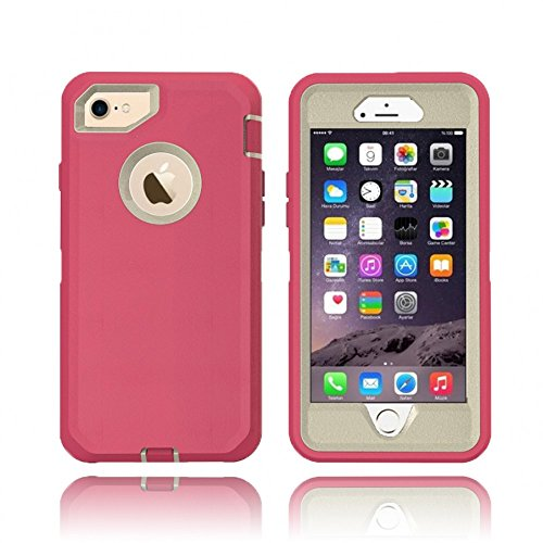 (iPhone 8 Plus / 7 Plus / 6S / 6 Plus Premium Armor Defender Case (Hot Pink))
