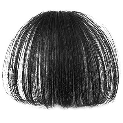 Vococal - 15cm Falso Recto Flequillo/Extensiones de cabello/Peluca de Pelo/ Postizos