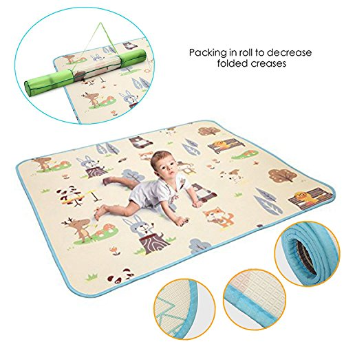 Meharbour Baby Folding Play Mat for Floor | Reversible Thick