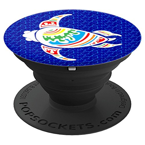 Hawaiian Tribal Designs - Hawaiian Tribal Turtle Design - PopSockets Grip and Stand for Phones and Tablets