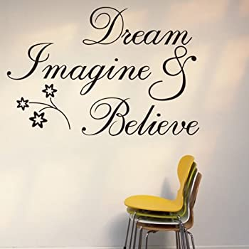 Marvelous Witkey Dream Imagine And Believe Inspirational Wall Decal Stickers Quotes  Saying And Words DIY Home Decor Vinyl Wall Murals Art Decor Room Home  Decoration