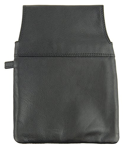 """NB24 Versand Holster für Kellnerbörse (5621oK) """"CA$H"""" für Damen und Herren, Echt Leder, schwarz, ohne Kette"""