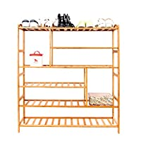 Alightup Bamboo Shoe Rack Entryway Shoe Shelf Storage Organizer