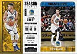 Stephen Curry 5 Card Gift Lot Including 2017/2018 Hoops, 2017/2018 Panini Contenders Season Ticket and 3 other Mint Basketball Cards picturing Curry in his Golden State Warriors Jersey