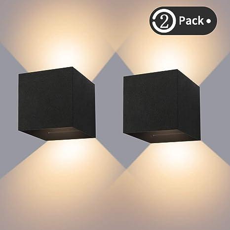 Design LED Illuminazione Parete Luce Effetto Nero Esterno Lampada facciata continua