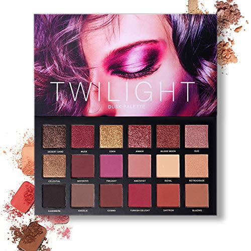 Pressed Pigmented 18 Color Eyeshadow Palette Velvet Matte Glitter Smoky Eye Makeup Palette 10 Matte + 8 Shimmery Eye Shadow