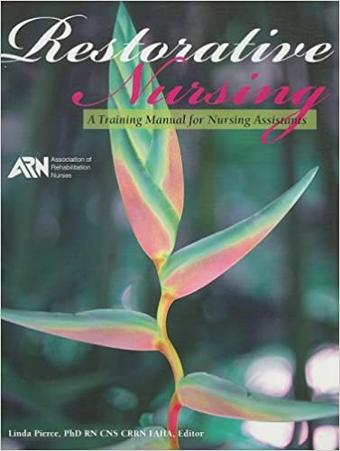 Restorative Nursing A Training Manual For Nursing