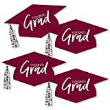 Maroon Grad Hat - Best is Yet to Come - Graduation Hat Decorations DIY Burgundy 2018 Graduation Party Essentials - Set of 20