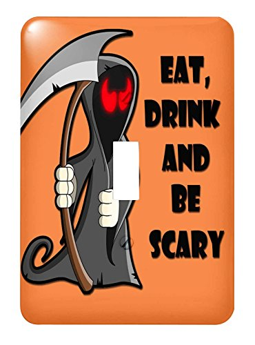 3dRose lsp_218445_1 Eat, Drink And Be Scary Halloween Funny Quotes Popular Saying Single Toggle Switch -