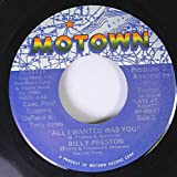 BILLY PRESTON 45 RPM All I Wanted Was You / With You I'm Born Again