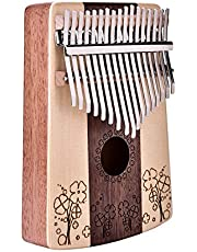 April Gift Wandisy Kalimba 17 Keys Spruce RosKalimab Thumb Tool Pouch Kit