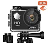 Action Camera 1080P 12MP WiFi Underwater Sports Cam 170 Degree Ultra Wide-Angle with 2 PCS Rechargeable Batteries and Mounting Accessories Kit